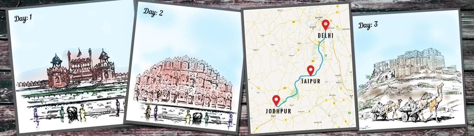 Delhi-Jaipur-Jodhpur Circuit