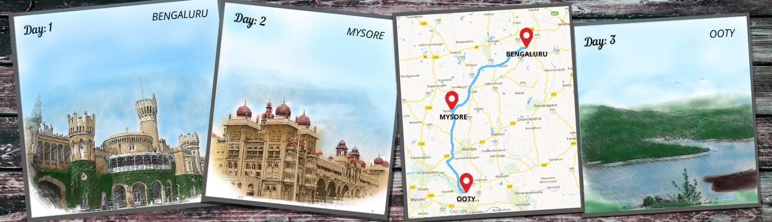 Bengaluru-Mysore-Ooty Circuit